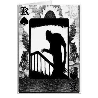 Carte Nosferatu-ombre sur les escaliers