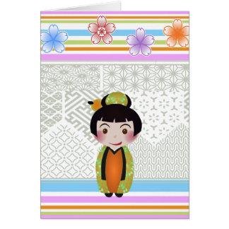 Carte noshi de kokeshi