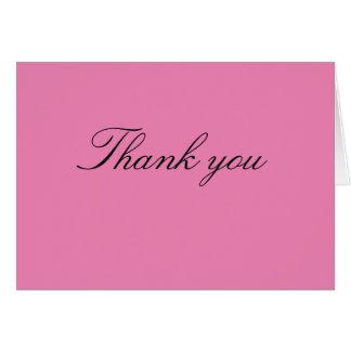Carte Note de Merci de baby shower - fille