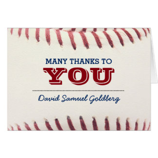 Carte Note de Merci de Mitzvah de barre de base-ball
