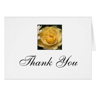 Carte Note de Merci de rose jaune