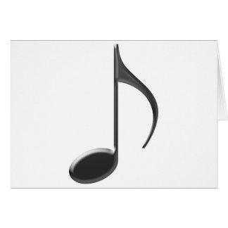 Carte Note noire de musique