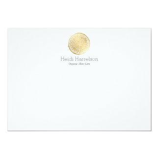 Carte Note plate de beauté de mandala de logo d'or