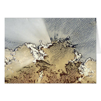 Carte Note vide d'aube