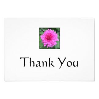 Carte Notes de Merci de Crysanthemem de roses indien