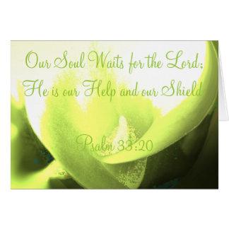 Carte Notre âme attend le seigneur