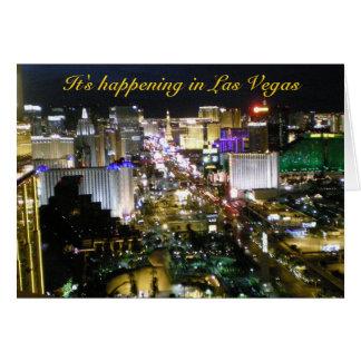 Carte Notre partie à Las Vegas