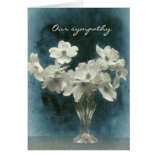 Carte Notre sympathie : Le cornouiller fleurit grand et