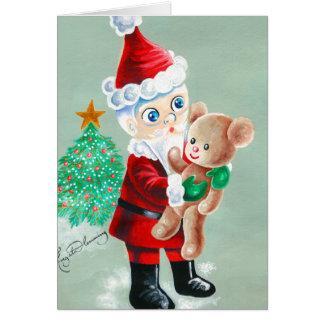 Carte Nounours d'amours de Père Noël