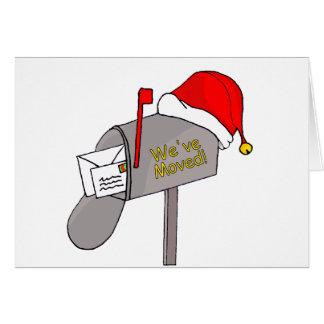 Carte Nous avons déplacé la boîte aux lettres de Noël