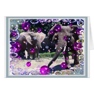Carte Nous avons des éléphants d'une partie