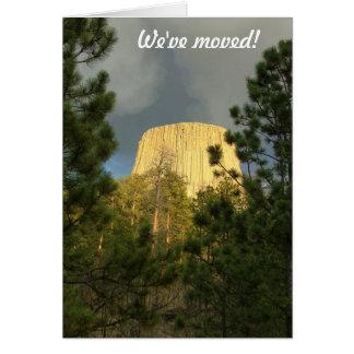 Carte Nous nous sommes déplacés - au Wyoming