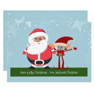 Carte Nouveauté Père Noël d'amusement et Noël d'Elf