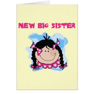 Carte Nouveaux T-shirts et cadeaux de grande soeur de