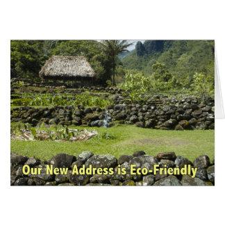 Carte Nouvelle adresse drôle - hutte amicale d'Eco
