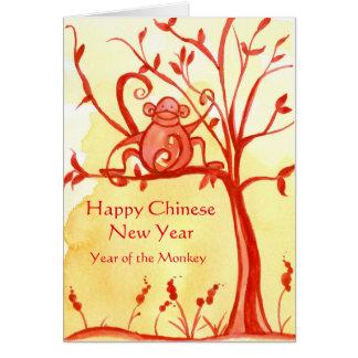 Carte Nouvelle année chinoise heureuse de la paix de