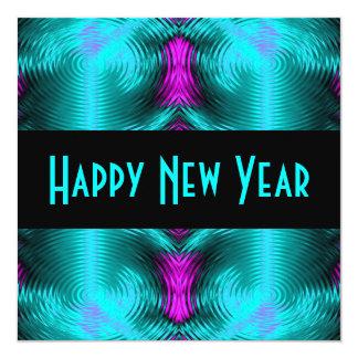 Carte nouvelle année de turquoise