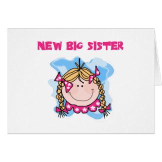 Carte Nouvelle grande soeur de fille blonde