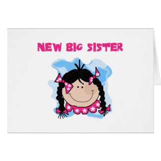 Carte Nouvelle grande soeur de fille d'une chevelure
