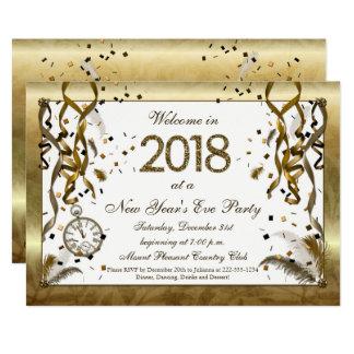 Carte Nouvelles années d'or d'invitations d'Ève
