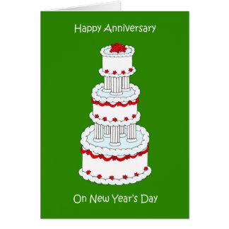 Carte Nouvelles années jour mariage anniversaire du 1er