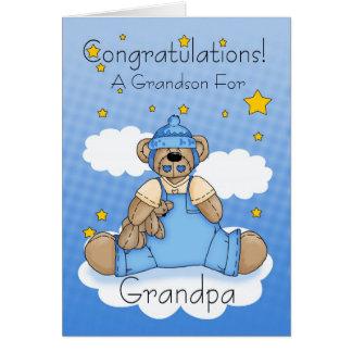 Carte Nouvelles félicitations de bébé de grand-papa