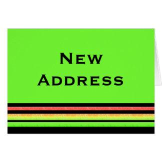 Carte Nouvelles rayures d'arc-en-ciel d'adresse