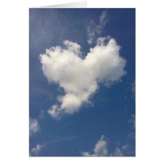 Carte Nuage de coeur
