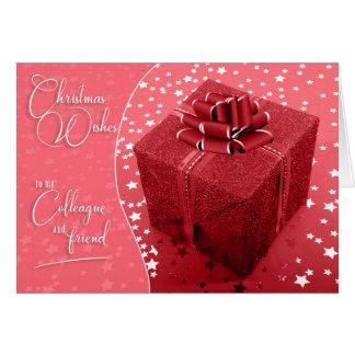 Carte Nuances de collègue et de collègue de Noël rose