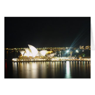Carte nuit de théatre de l'opéra de Sydney