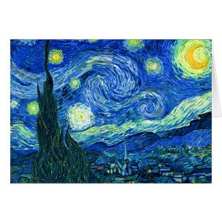 Carte nuit étoilée de Vincent van Gogh