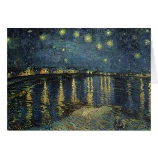 Carte Nuit étoilée de Vincent van Gogh   au-dessus du