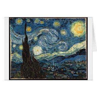 Carte Nuit étoilée par Vincent van Gogh