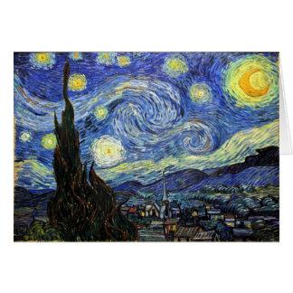 Carte Nuit étoilée par Vincent van Gogh 1889