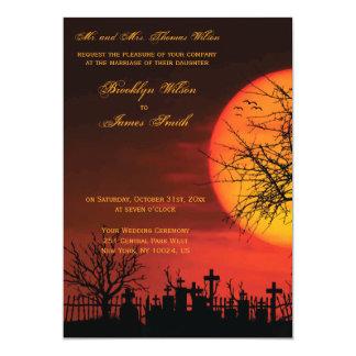 Carte Nuit faite sur commande d'invitations de mariage