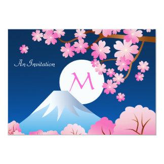 Carte Nuit Sakura du Japon de ressort de fleurs de