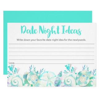 Carte nuptiale d'idées de nuit de date de carton d'invitation  11,43 cm x 15,87 cm