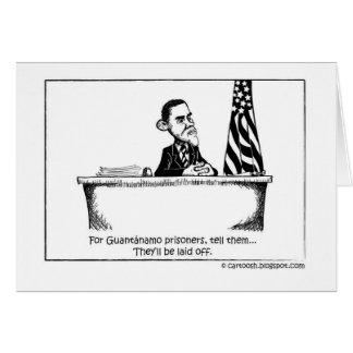 Carte Obama commande Guantanamo pour se fermer