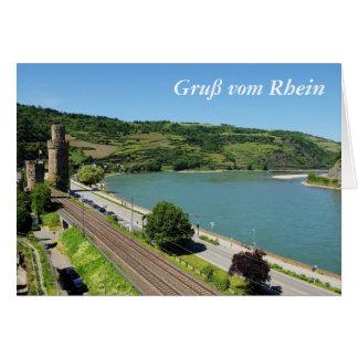 Carte Oberwesel au Rhin