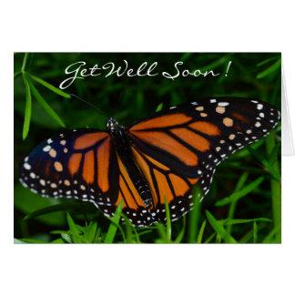 Carte Obtenez bien bientôt ! Papillon