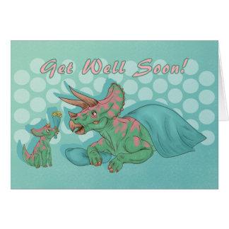Carte Obtenez bientôt le Triceratops bon