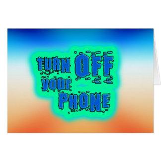 Carte Obtenez le ~ inspiré arrêtent votre téléphone