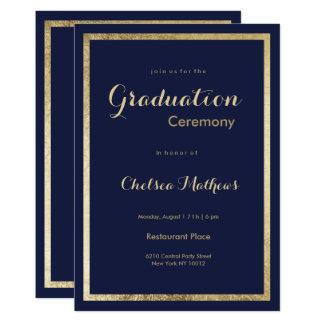 Carte Obtention du diplôme élégante élégante d'or de