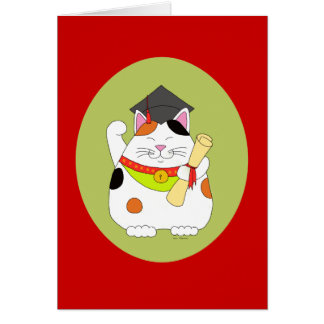 Carte Obtention du diplôme Maneki Neko