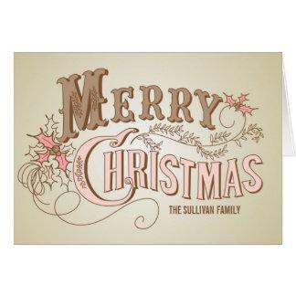 Carte occidentale vintage de Joyeux Noël de