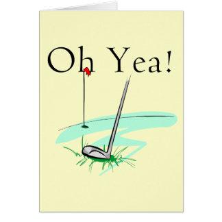 Carte Oh T-shirts et cadeaux de golf de Yea