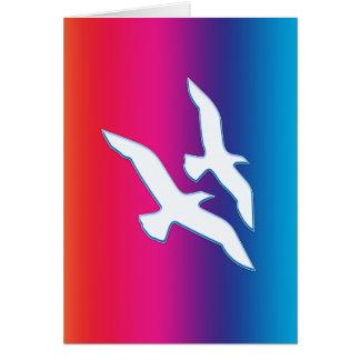 Carte Oiseaux pilotant Rainbowrific