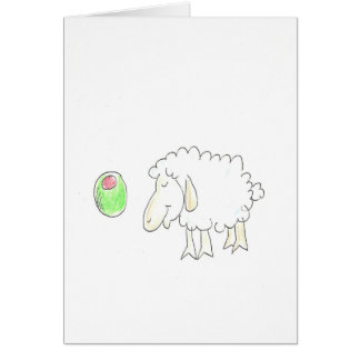 Carte olive et moutons