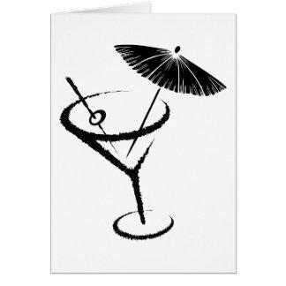 Carte Olive et parapluie de boissons de cocktail de ~ de