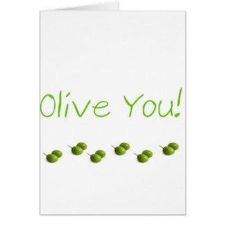Carte Olive vous